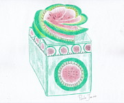Watermelon Drawings - Watermelon Box by Cherryl Fernandez