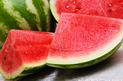 Watermelon Photo Prints - Watermelon In Summertime Print by Andee Photography