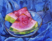 Jan Bennicoff - Watermelon on Blue