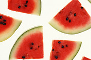 Watermelons Posters - Watermelon Poster by Photo Researchers