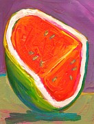 Watermelon Mixed Media Posters - Watermelon Poster by Sage Gibson