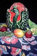Watermelon Swan Print by Sally Weigand