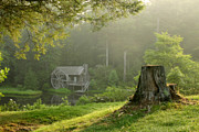 Log Cabin Photos - Watermill at Sunrise by Matt Tilghman