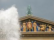 Philadelphia Art Museum Prints - Waterpark Gods Print by Kevin  Sherf