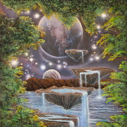 Visionary Art Painting Prints - Waters From Beyond Print by Sam Del Russi