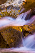 Rushing Water Prints - Waters of Zion Print by Adam Romanowicz