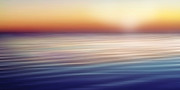 Acrylic Seascape Digital Art Posters - Waterscape Panorama Poster by Lutz Baar