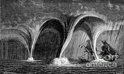 Supercell Prints - Waterspouts, 1869 Print by Science Source