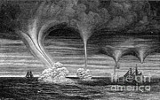 Supercell Prints - Waterspouts, 1873 Print by Science Source