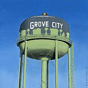 Watertower Posters - Watertower Grove City Poster by Rob De Vries