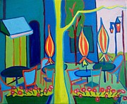 Boston Ma Paintings - Watertown Cafe by Debra Bretton Robinson