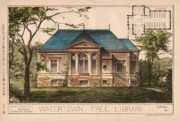 Research Paintings - Watertown Free Library. Watertown MA. 1884 by Geo R Shaw