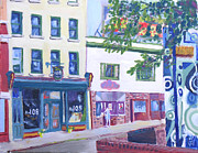 Bistro Paintings - Watertown NY Bistro 108 by Robert P Hedden