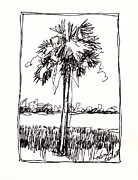 Palm Trees Fronds Originals - Waterway Palm by Michele Hollister - for Nancy Asbell