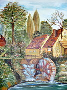 Tall Trees Originals - Waterwheel at the Mill by Carolyn Taylor