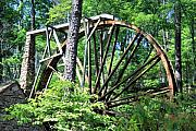 Photomanipulation Acrylic Prints - Waterwheel Acrylic Print by Johann Todesengel