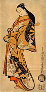 Courtesans Art - Waterwheel Kimono 1711 by Padre Art