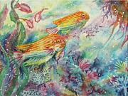 Fish Underwater Paintings - Watery World 1 by Deborah Younglao