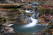 Finger Lakes Prints - Watkins Glen Falls Print by Jeff Bord