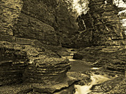 Watkins Glen In Orotone Print by Joshua House