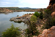 Prescott Framed Prints - Watson lake 2 Framed Print by Julie Lueders