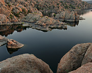 Prescott Photo Prints - Watson Lake at Sunset Print by Dave Dilli