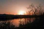 Pictures Photo Originals - Watson Lake at Sunset by James Steele