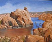 Prescott Paintings - Watson Lake by Jan Rooney