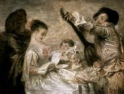 Lute Prints - Watteau: Music Print by Granger