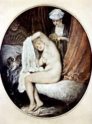 18th Century Paintings - Watteau: Toilette by Granger