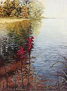Tn Painting Prints - Watts Bar Lake Rockwood TN Print by Todd A Blanchard
