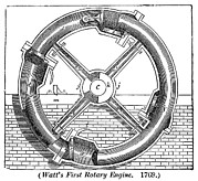 Watt Photos - Watts Rotary Engine by Science, Industry & Business Librarynew York Public Library