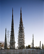 Folk Art Photos - Watts Towers, Built By Simon Rodia by Everett