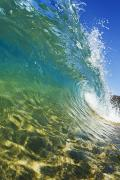 Aqua Blue Photos - Wave - Makena by Quincy Dein - Printscapes