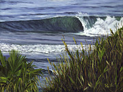 Oceanside Painting Prints - Wave 4 Print by Lisa Reinhardt