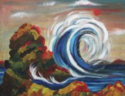 Suzanne  Marie Leclair - Wave and Rocks