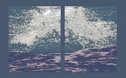 Pacific Ocean Mixed Media - Wave Crash Diptych by Steve Ohlsen