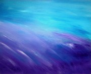 Crashing Waves Paintings - Wave Dance - Ocean Series by Tracy Evans