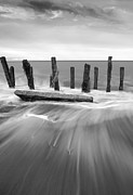 Wave In Black And White Print by Svetlana Sewell