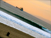 Jon Berry Metal Prints - Wave Metal Print by Jon Berry