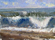Hamptons Painting Posters - Wave No.6 Poster by Lawrence Chrapliwy