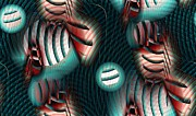 Radiating Digital Art - Wave Pattern by Ron Bissett
