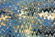 Abstract Digital Reliefs - Wave Shock by Laura Jelenkovich