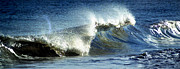 Ocean Images Posters - Wave Poster by Skip Willits