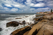 La Jolla Framed Prints - Wave Wash Framed Print by Peter Tellone