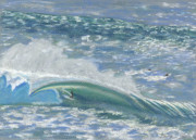 Tropical Art Pastels Posters - Waverider Poster by Patti Bruce - Printscapes