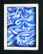 Colorful Reliefs Prints - Waves 2 Print by Jason Amatangelo