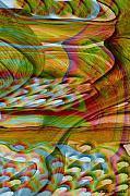 Waves And Patterns Print by Linda Sannuti