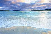 Outer Hebrides Framed Prints - Waves Breaking On Beach, Traigh Rosamal, Isle Of Harris, Outer Hebrides, Scotland Framed Print by Tim Hurst