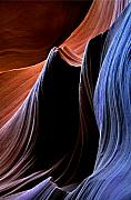 Sandstone Slot Canyon Photo Acrylic Prints - Waves Acrylic Print by Mike  Dawson